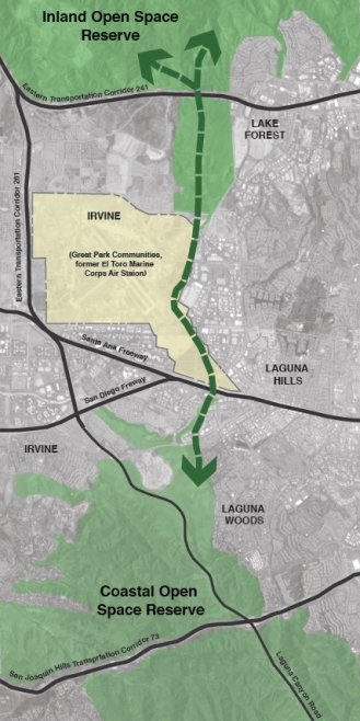 Map Irvine Wildlife Corridor